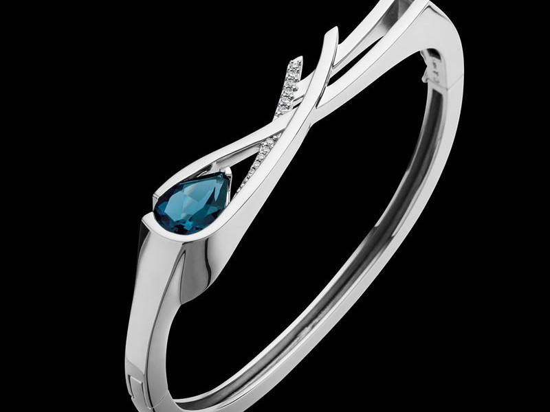Браслет London blue topaz