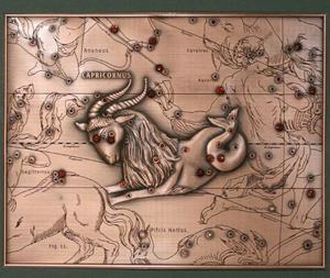 В древности люди видели созвездие Козерога так.