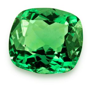 Салатового цвета камень